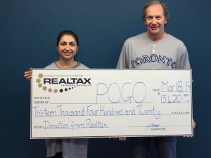 Presenting cheque to POGO